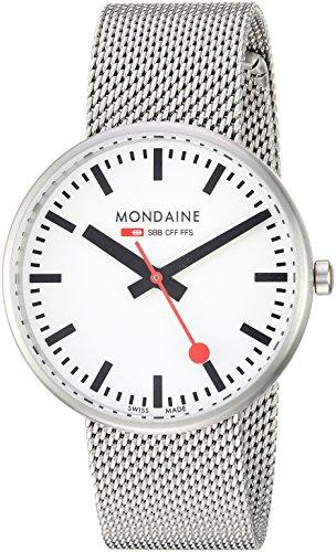 Mondaine Women's 'SBB' Swiss Quartz Stainless Steel Casual Watch, Color Silver-Toned (Model: (Sbb Swiss)