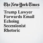 Trump Lawyer Forwards Email Echoing Secessionist Rhetoric | Michael S. Schmidt,Matt Apuzzo