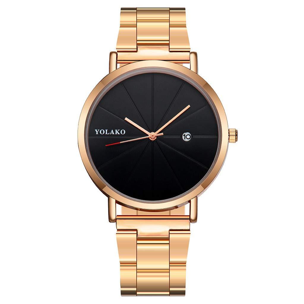 Mymyguoe Reloj de Pulsera Mujer Negro Reloj Mujer Relojes Hombre Unisex Reloj de Pulsera Relojes de Pulsera para Hombres Reloj Mujer Reloj analogico Reloj ...