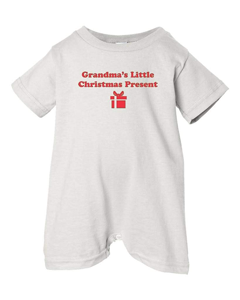 Festive Threads Unisex Baby Grandmas Little T-Shirt Romper White, 6 Months