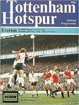 Tottenham Hotspur Everton 05/05/79 WHITE Hart Lane football programme (GR1)
