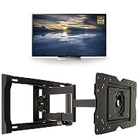 Sony XBR65X930D 65-Inch 4K Ultra HD 3D Smart TV + AmazonBasics Articulating TV Wall Mount