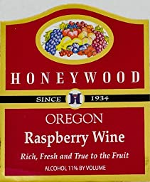 NV Honeywood Winery Raspberry Fruit Wine 750 mL