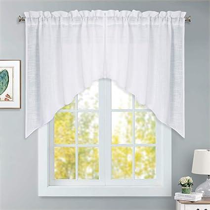 Amazoncom Ryb Home Short Kitchen Curtains And Valances Set