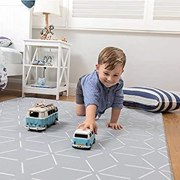 Baby Play Mat – Foam Padded Soft Ultra Cushioned Floor Mats Make Ideal Baby, Childrens Yoga Exercise Mat. Kids 1 piece playmat 4.6 x 6.5ft