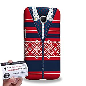 Case88 [Samsung Galaxy Core Prime G360] 3D impresa Carcasa/Funda dura para & Tarjeta de garantía - Art Hand Drawing Red Cardigan