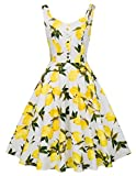 Cute Pin up Swing A line 1950s Retro Dress M BP416-3
