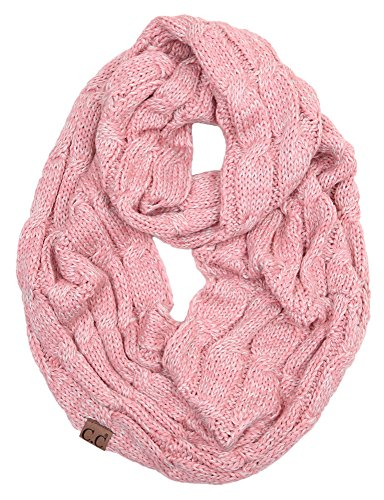 S1-6800-65 Funky Junque Infinity Scarf - 2 Tone Rose (#2)