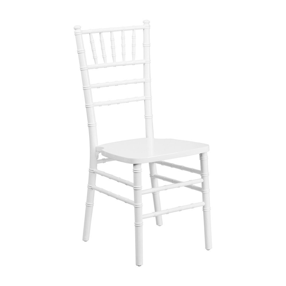 Offex OFX-274078-FF Lightweight Elegant White Wood Chiavari Chair