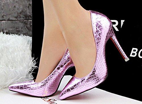 Court Women's Pink 66 No Stiletto Shoes Heel Pumps Town Serpentine High Nightclub zgqqpwEx
