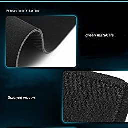 Kupx Thick Extended Edition Cloth Gaming Mouse Mat with Non-slip Rubber Base and Blue Edge, 23.6x11.8x0.08-Inch
