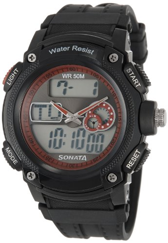 Sonata Ocean Series Digital Multi-Color Dial Men's Watch - NE7989PP03J