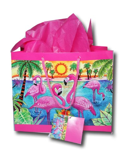 Pink Flamingo Gift Bag with Tissue  Amazon.co.uk  Kitchen   Home 9728f3c7c