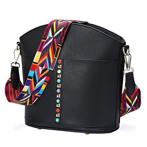 Cross Bag body Women Bohemian Messenger Shoulder Black Strap YsinoBear Wide Style Bag qxSBOAS
