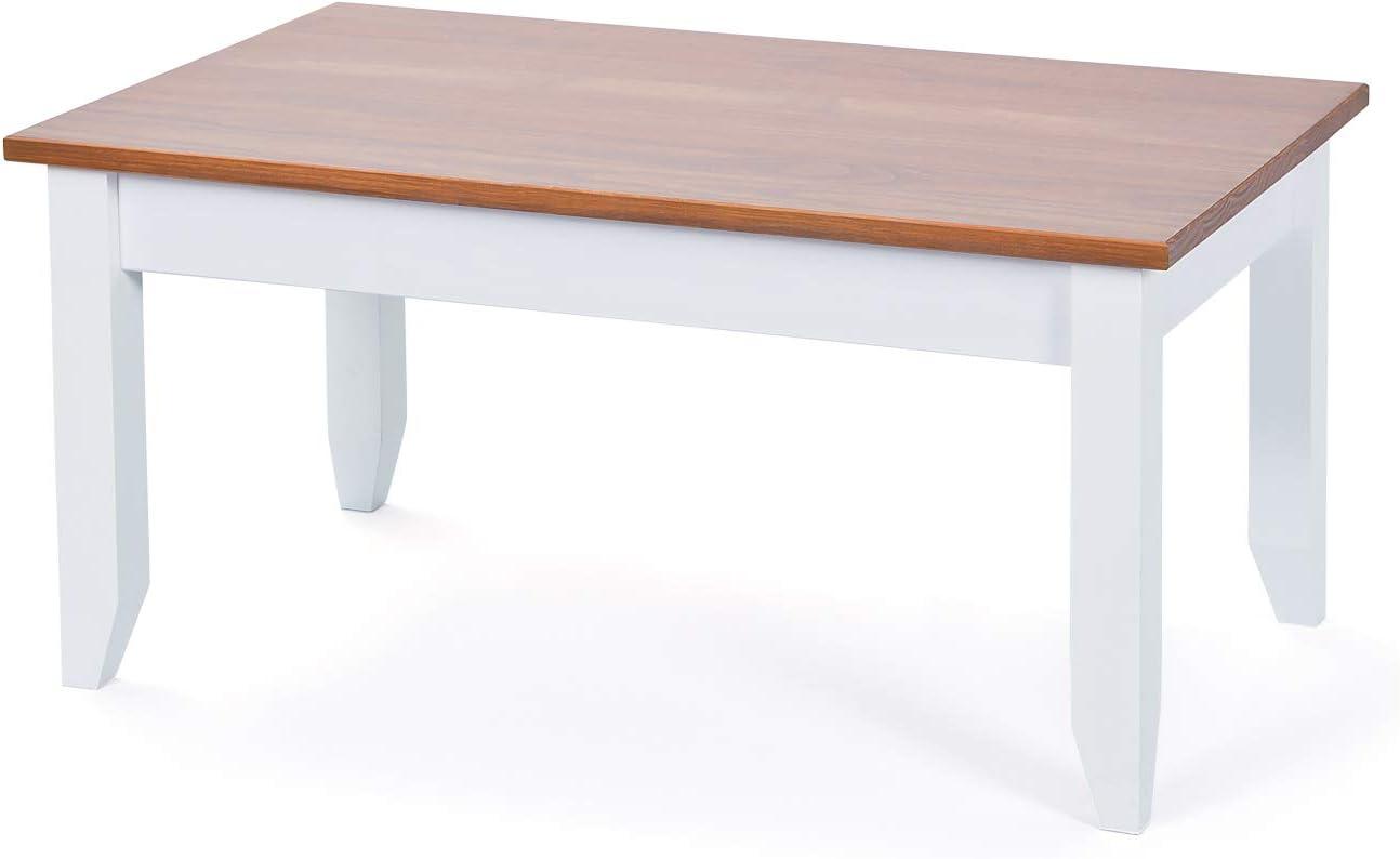 Salone Negozio Online Links tavolino Flens in massello di Pino 90x55x45