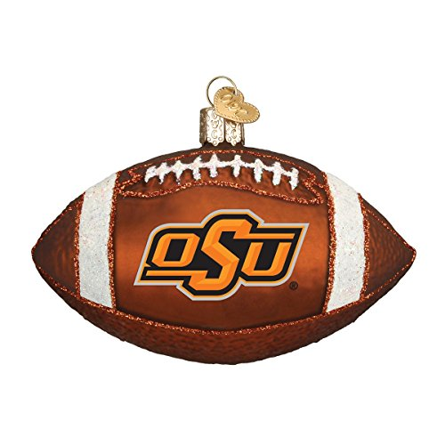 Old World Christmas Ornaments: Oklahoma State Football Glass Blown Ornaments for Christmas Tree