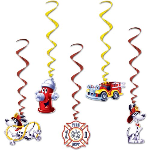 Fire Station Whirls   (5/Pkg)