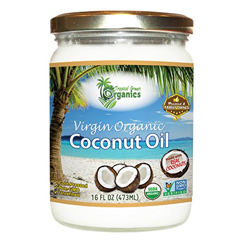 Organic Superior Unrefined Virgin Coconut Oil (16 Ounce)