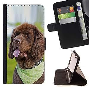 For HTC One A9 Case , pes yazyk kosynka- la tarjeta de Crédito Slots PU Funda de cuero Monedero caso cubierta de piel