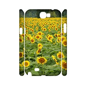 COMEON Sunflower Customized Hard 3D Case For Samsung Galaxy Note 2 N7100