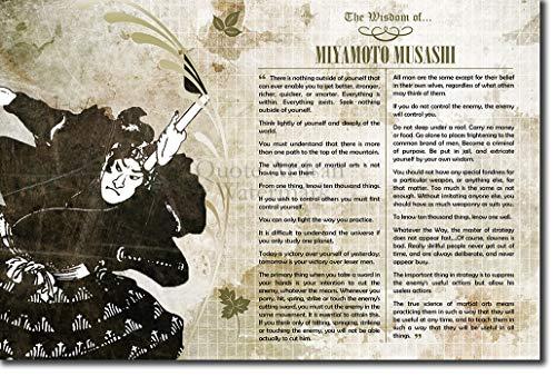 Introspective Chameleon The Wisdom of Miyamoto Musashi Poster - Photo Art Print Gift Motivation - rōnin Samurai MMA Martial Arts Swordsman Sun Tzu - Size: 12 x 8 Inches (30x20 cm)