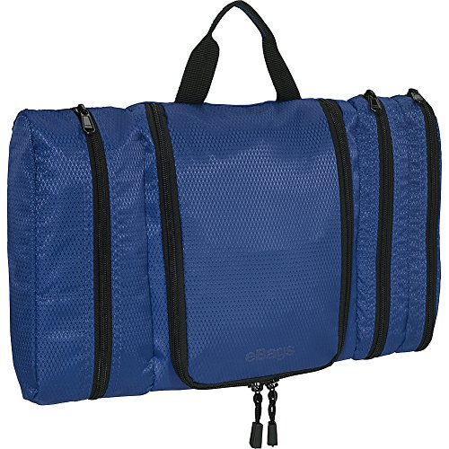 eBags Pack-it-Flat Hanging Toiletry Kit for Travel - (Denim)