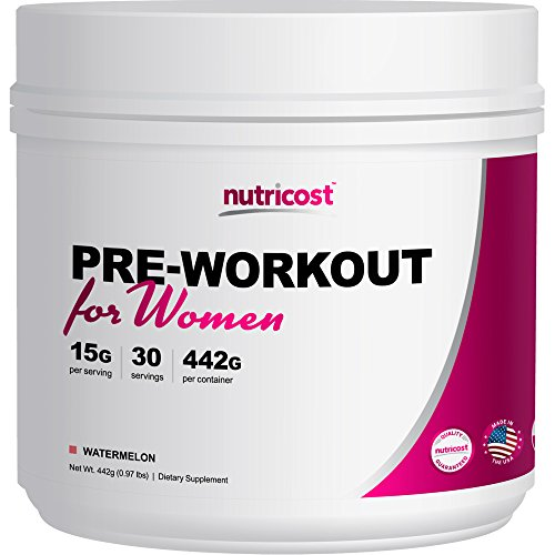 Nutricost Pre-Workout Powder for Women (Watermelon) 30 Servings