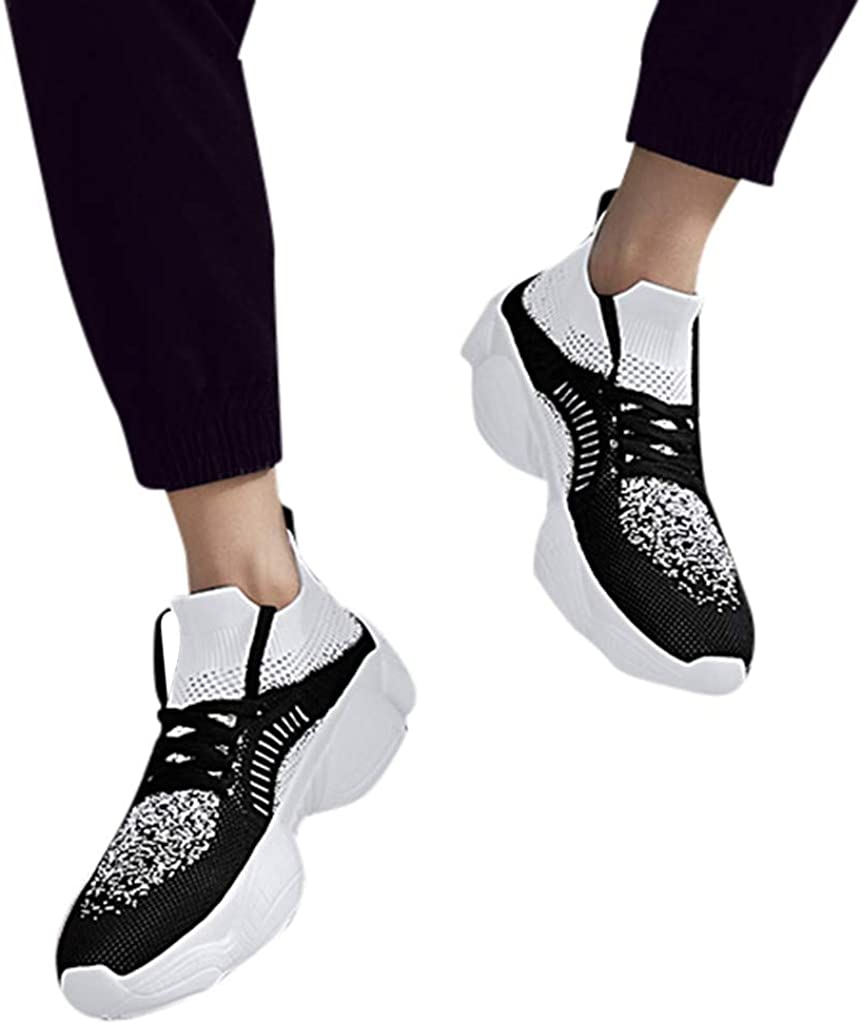 High-top Sneakers for Men 2019 Newest Casual Breathable Flying Woven Non-Slip Shoes