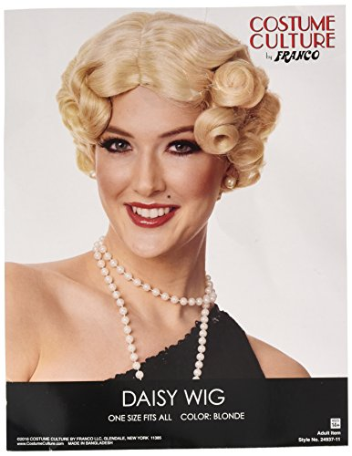Costume Culture Women's Daisy Wig, Blonde, One Size