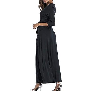 Fiesta Vestir Ropa Falda Mujer ,BBestseller Mujer Vestido Blusa de Solapa Casual para Mujer Vestido Largo de Manga Larga con Escote en V y Escote en V ...
