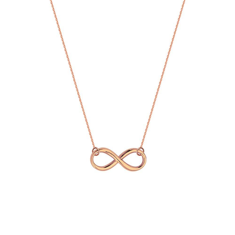 Argent sterling Rose Plaqué réglable Collier infini Fermeture à mousqueton–46centimetres JewelryWeb MIP353678SS