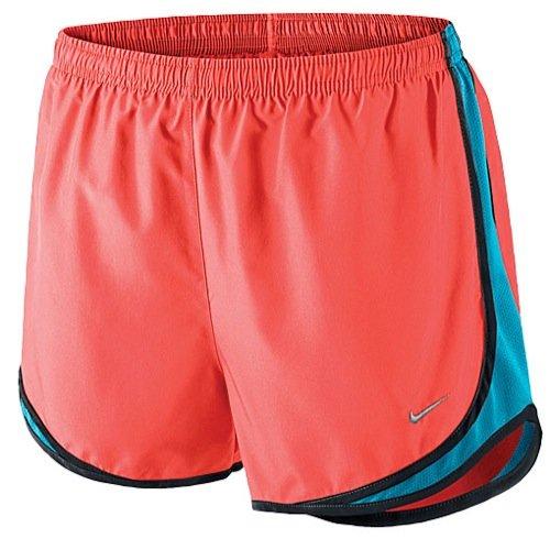 Nike Women's Tempo Running Athletic Shorts, Hyper Orange/Blue Lagoon/Black, XS