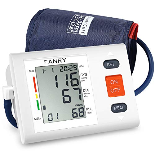 FANRY Blood Pressure Monitor Automatic Digital Blood Pressure Cuff Upper Arm, Batteries Included - FDA Certified, Accurate, Portable and Perfect for Home Use 8.7