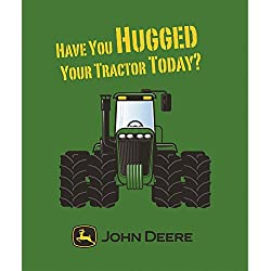 "John Deere Tractor 50"" x 60"""" Plush Throw Blanket by Outback Toys"