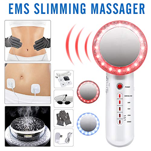 Fat Remover Machine 6 in 1 EMS Weight Loss Machine for Stomach Arm Leg Skin Care Beauty Device with EMS Pads MEILYLA (Ultrasonic Lipo Machine)