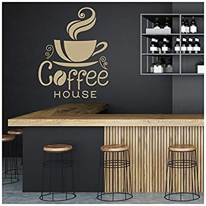 com banytree coffee house wall sticker food drink quote