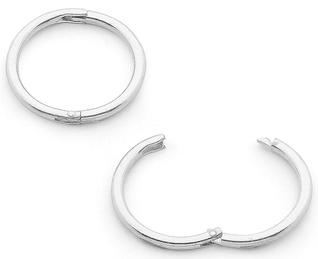 365 Sleepers 1 Pair Solid Sterling Silver 10mm 18G Hinged Hoop Sleepers Earrings Hypoallergenic Made in Australia HSL10SS