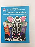 img - for Zip Strips: Self-Checking Practice Pockets - Thematic Vocabulary (Parts of Speech, Science, Social Studies and Seasonal Words) book / textbook / text book