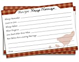 Braindango 50 Pack 4x6 Rustic Wedding Advice Cards | Large Thick Easy-Write Card Stock | Wedding Bridal Shower Gift 4 x 6