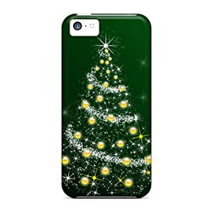 LER2355jppr Case Cover, Fashionable Iphone 5c Case - Christmas Tree Hd