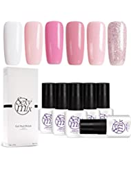Sexy Mix Gel Nail Polish Set, Nude Pink Glitter Colors...