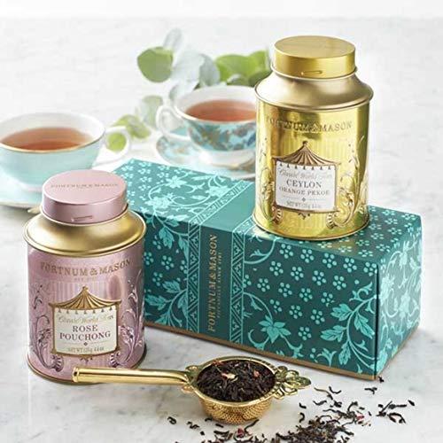 Queen Anne Cup Saucer - Fortnum & Mason Fortnum's World Teas Gift Set: Rose Pouchong 125g & Ceylon Orange Pekoe 125g