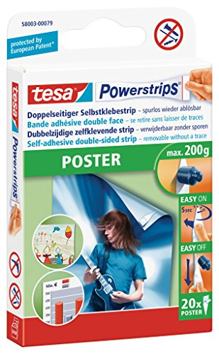 200 x tesa tesa tesa Powerstrips® Poster   KleBesterips   spurlos ablösbar   für Bilder, Poster u.v.m.  10 Packungen, je 20 Strips 58003-00079 B004AKPA6K   Online-verkauf  b28999