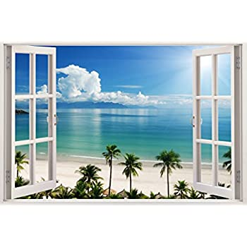 Realistic Window Wall Decal U2013 Peel And Stick Nautical Decor For Living  Room, Bedroom,