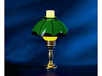 Amazon.es: Melody Jane Casa de Muñecas Lámpara de Mesa Verde ...