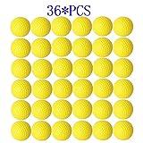 Dsmile Practice Golf Balls, Foam, 36 Count, Yellow