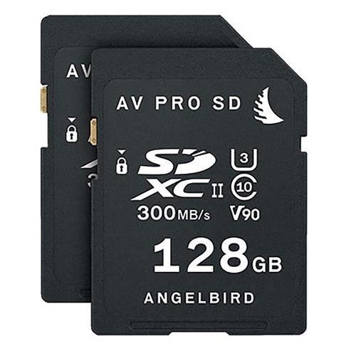 Angelbird 2x AV PRO SD 128GB SDXC UHS-II U3 Class 10 V90 Memory Card Match Pack for Panasonic EVA1 Camera by Angelbird