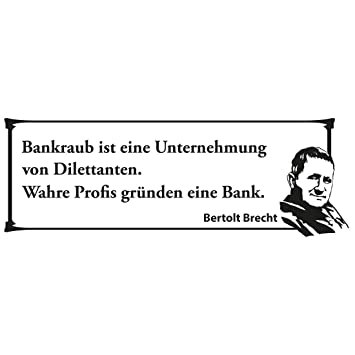 Wandtattoo Bertolt Brecht Zitat 001 M 75cm X 26cm 23