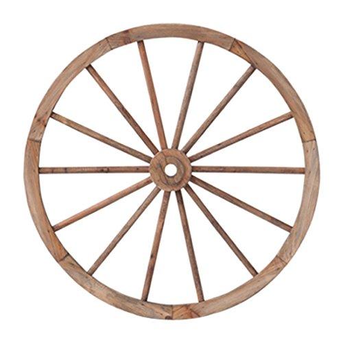PL ウォールディスプレイ アンティーク調 木製車輪 IDYLLIC GARDEN ガーデンウィール L 直径62cm ブラウン 40879 B00FVTP36G ブラウン ブラウン