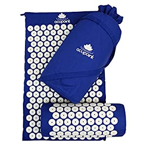 Acupoint Acupressure Mat Pillow Set Back and Neck Pain Relief Acupuncture Mat Reflexology Massage Mat Relieves Stress and Sciatic Pain, Coccyx & Insomnia.